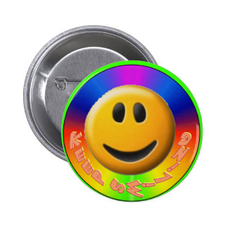 Keep Smiling Button-Smiley 6 Cm Round Badge