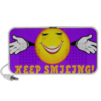 Keep Smiling Doodle Portable Speakers