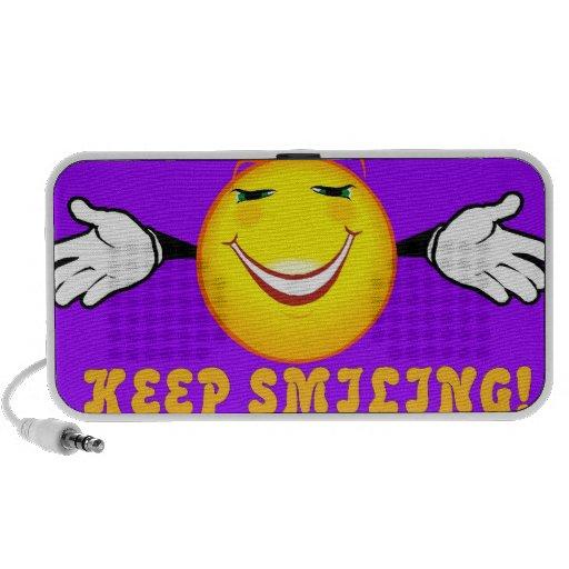 Keep Smiling Doodle Portable Speaker