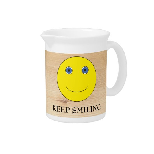 Keep Smiling Drink Pitcher