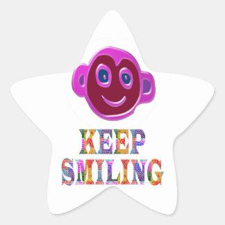 KEEP SMILING STAR STICKER
