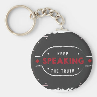 keep speaking the truth key ring