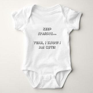 KEEP STARING... BABY BODYSUIT