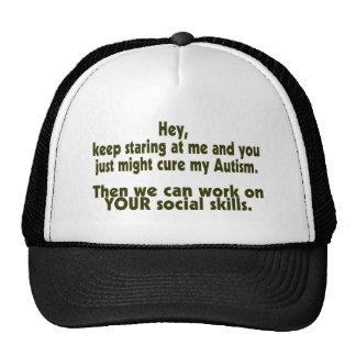 Keep Staring Cure Autism Social Skills Trucker Hats