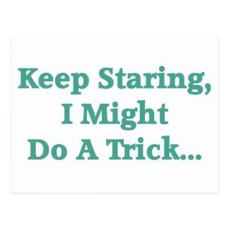 Keep Staring... Postcard