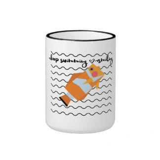 Keep Swimming and Smiling as Clown Fish Ringer Mug