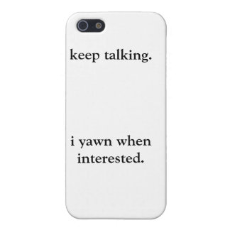 Keep talking phone case iPhone 5/5S cases
