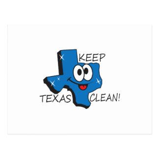 KEEP TEXAS CLEAN POSTCARD
