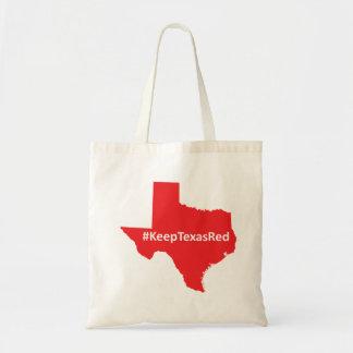 Keep Texas Red Tote Budget Tote Bag
