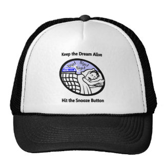 Keep the Dream Alive - Hit the Snooze Button Mesh Hats