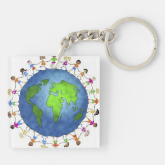Keep The Dream Alive Key Ring Double-Sided Square Acrylic Key Ring