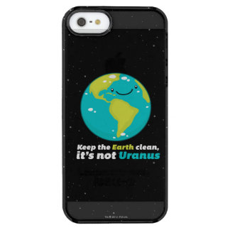 Keep The Earth Clean Clear iPhone SE/5/5s Case