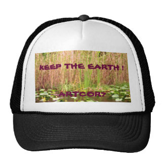 Keep the Earth Water Lilies Cap Trucker Hat