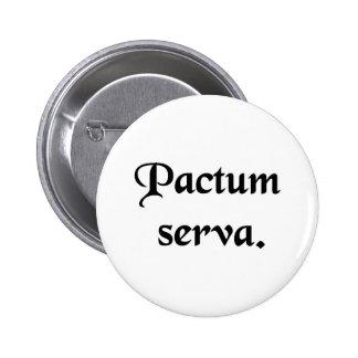 Keep the faith. 6 cm round badge