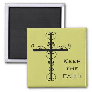 Keep the Faith Cross Magnet