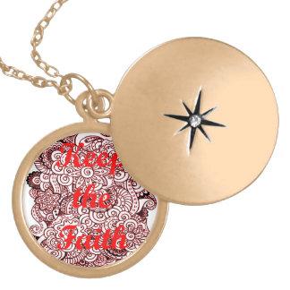 Keep the Faith Locket Necklace