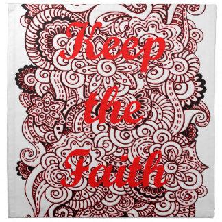 Keep the Faith Napkin
