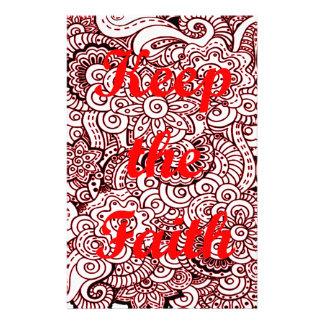 Keep the Faith Stationery