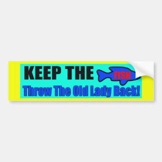 Keep The Fish Bumper Sticker