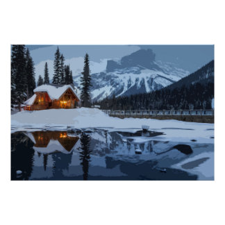 Keep the Home Fires Burning for  Winter Traveler Poster
