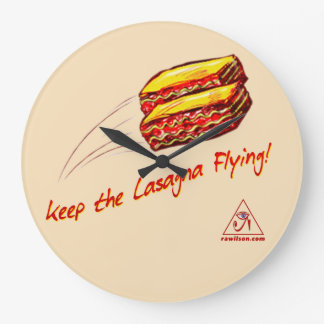 keep the Lasagna Flying clock