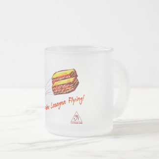 keep the Lasagna Flying Frosted Mug