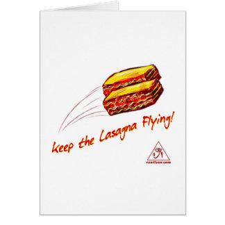 Keep the Lasagna Flying Greeting Card