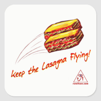 keep the Lasagna Flying Sheet of Stickers