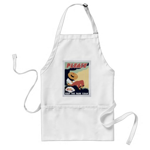 Keep the Park clean Aprons
