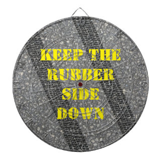 Keep the Rubber Side Down Tire Tracks Dartboard