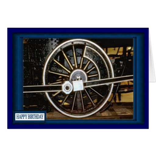 Keep the wheels rolling greeting card