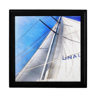 Keep The Wind In Your Sails Large Square Gift Box