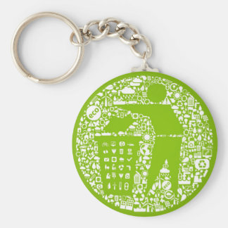 Keep The World Clean / Eco Friendly Keychains