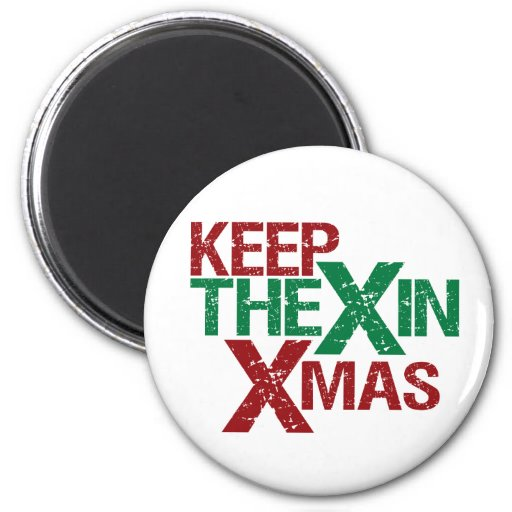 Keep the X in Xmas Fridge Magnets