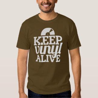 Keep Vinyl Alive T-Shirt - Brown