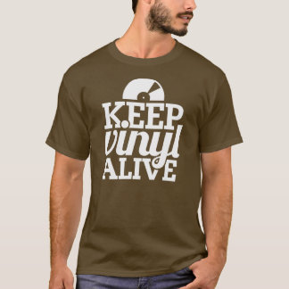 Keep Vinyl Alive T-Shirt - Brown