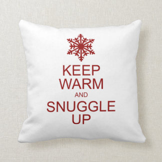 Keep warm and snuggle up holiday pillow