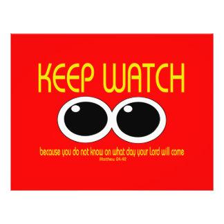 KEEP WATCH - Matthew 24:42 21.5 Cm X 28 Cm Flyer