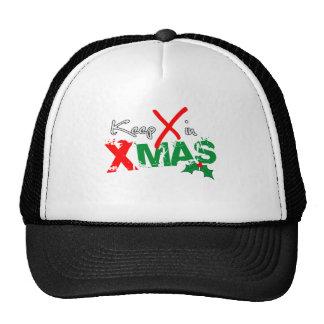 Keep X in Xmas Mesh Hat