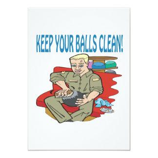 Keep Your Balls Clean 13 Cm X 18 Cm Invitation Card