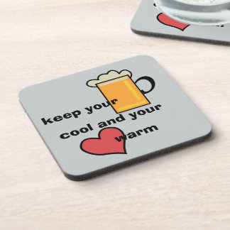 Keep your bear cool… beverage coaster