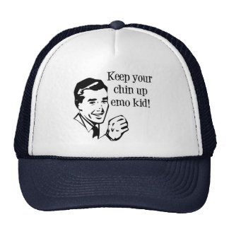 Keep Your Chin Up Emo Kid! Mesh Hats