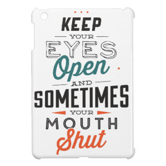 Keep Your Eyes Open iPad Cover