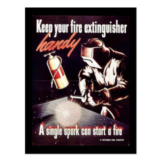 Keep Your Fire Extinguisher Handy Postcard