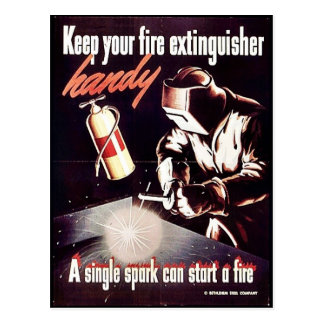 Keep Your Fire Extinguisher Handy Postcards