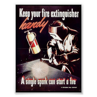 Keep Your Fire Extinguisher Handy Poster