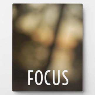 Keep Your Focus Photo Plaque