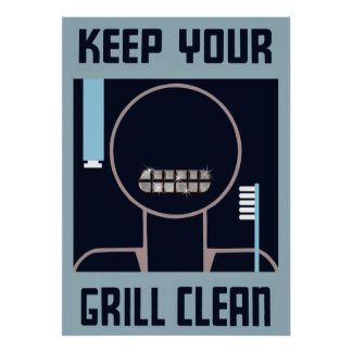 Keep Your Grill Clean Poster