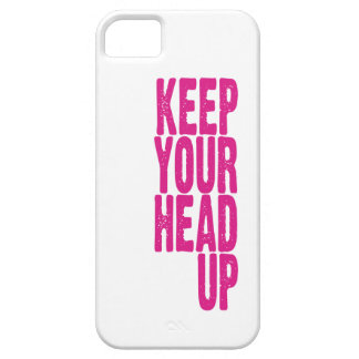 Keep Your Head Up (hot pink) iPhone 5 Cases