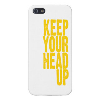 Keep Your Head Up (sunshine yellow) iPhone 5 Cases